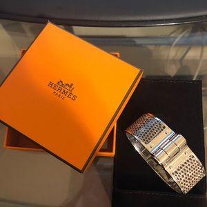 Hermès charniere Large Lezar bracelet